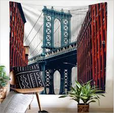 tapestry home decor home decor polyester fabric nordic building tapestry wall hanging