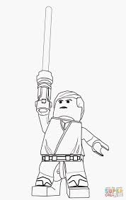 Coloriage Star Wars Of Lego Star Wars Luke Skywalker Super Coloring