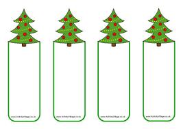 christmas tree bookmarks