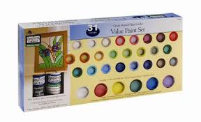 amazon com plaid gallery glass window color value paint set