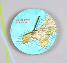 Personal World Map by Personal Map Location Round Wall Clock For Him By Bombus