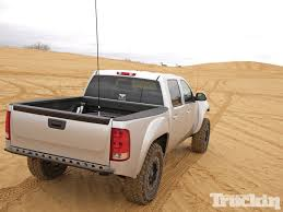 prerunner truck suspension 2011 gmc sierra hang time truckin magazine