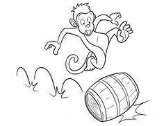 free printable monkey coloring pages for kids scouts