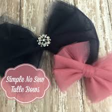 hair bows tulle hair bow how to make no sew tulle bows in 7 simple steps