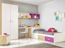 Chambre Ado Fille Avec Lit Mezzanine by Chambre Ado Design Multicolore Avec Lit 3 Coffres Glicerio So Nuit