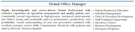 Front Office Manager Resume Sample Dental Office Manager Resume Sample Jennywashere Com