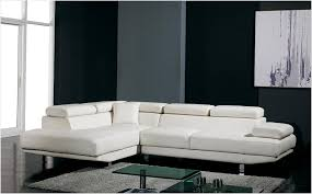 Modern Gray Leather Sofa by White Modern Couches