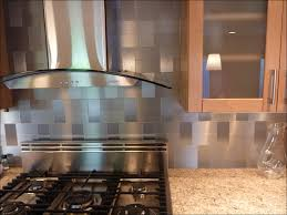 kitchen glass and metal backsplash tile white ceramic floor tile