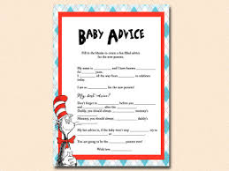 baby mad libs dr seuss baby shower magical printable