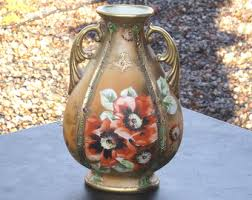 Antique Hand Painted Vases Nippon Vase Etsy