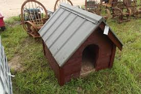 dog house wood siding metal roof handcrafted
