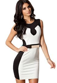 latest white dress with black lace collection