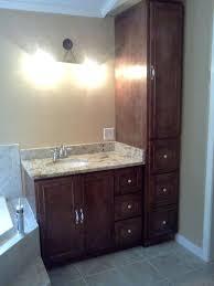 clever bathroom ideas clever bathroom vanities with linen cabinet inch single sink