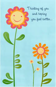 feel better cards card invitation sles feel better card smiling sunflowers