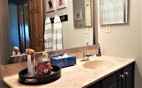 Rustic Bathroom Decor Ideas - bathroom neutral bathroom colors wooden frame mirror bathroom