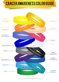 ribbon color custom cancer awareness support wristbands rapidwristbands
