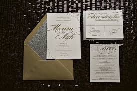 new years wedding invitations real wedding marisa and nick silver and gold glitter wedding