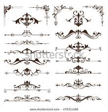 vector vintage design elements set ornaments stock vector