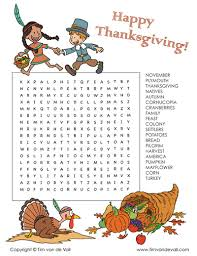 free thanksgiving word search printable thanksgiving activity