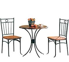 Kitchen Bistro Table by Amazon Com Coaster 5939 Metal And Wood 3 Piece Bistro Table