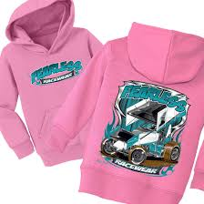 pink toddler car fearless kids sprint car toddler hoody u0027s princess race wear