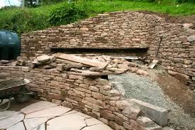 retaining wall copper beech garden design hereford