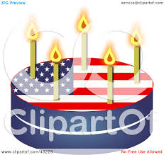 royalty free rf clipart illustration of a patriotic american