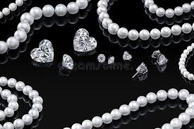 luxury pearl necklace images Luxury set white pearl necklace and jewelry with diamonds in jpg