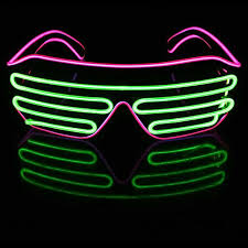 party sunglasses with lights 50sets lot led el crystal clear frame neon flash sunglasses light up