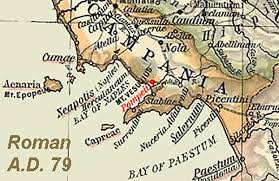 Roman Map Maps Bay Of Naples