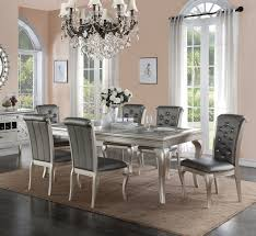 poundex f2151 metallic silver dining set best priced set in