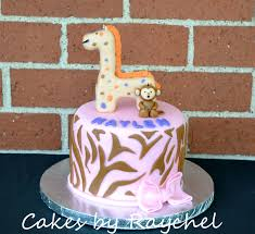 my creative way giraffe and monkey baby shower cake