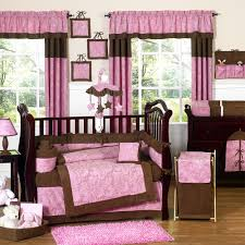 Brown And Pink Crib Bedding Bedroom Modern Nursery Furniture Sets With Pink Bedding Sets For