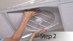 suspended ceiling exhaust fan ceiling fan design installation tutorial electrician drop ceiling