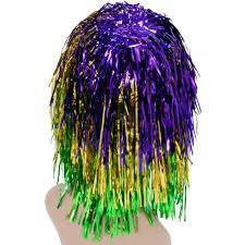 mardi gras apparel mardi gras tinsel wig mardigrasoutlet