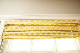 No Sew Roman Shades How To Make - catchy yellow roman shades and copy craft no sew roman shades