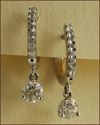 diamond earrings for sale on 18k white gold leverback three prong diamond earrings