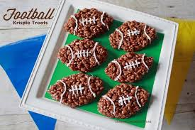 that s what che said football rice krispie treats