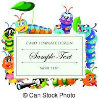caterpillar border a smiling cartoon caterpillar forming a