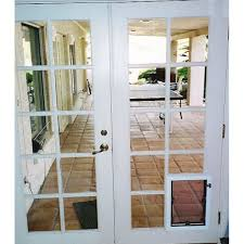 Hinged French Patio Doors by Amazing Of French Doors With Pet Door Double Hinged Security Door