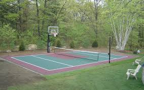 Backyard Sport Courts Game On Sports Surfaces Get The Home Court Advantage
