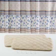 Kmart Bathroom Rug Sets Essential Home Delancey 15pc Memory Foam Bath Set Blue Home