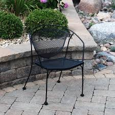 Wrought Iron Patio Furniture by Backyard Creations Wrought Iron Barrel Patio Chair At Menards