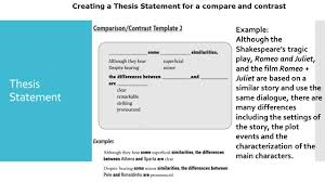 compare and contrast essay sample thesis compare and contrast essay introduction hook hook your reader 5 creating a thesis statement for a compare and contrast example