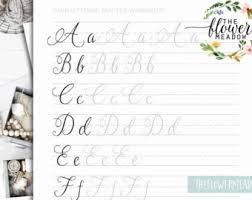 lettering worksheets set 1 large brush pen or watercolor
