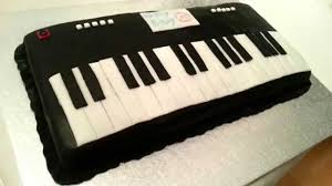 piano cake topper keyboard piano fondant cake