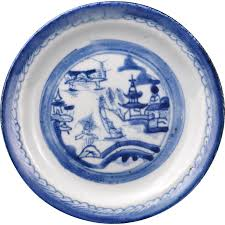 canton porcelain canton ware export porcelain blue and white painted