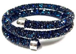 double bangle bracelet images Blue crystaldust double bangle bracelet small 2016 swarovski jpg