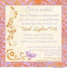 baby shower brunch invitations blessings baby shower brunch invitation lavender orange