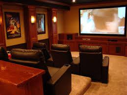 Home Theater Decoration Interior Attractive Basement Home Theater Decoration Design Ideas